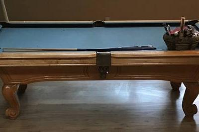 Wood Pool Table 8Ft
