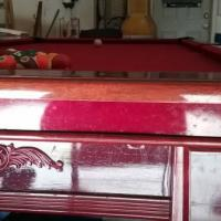 Nice Cherry Wood Pool Table for Sale