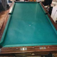 Brunswick Gold Crown 3 Pool Table-Simonis 860 Cloth